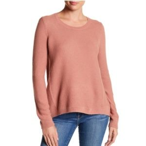 SALE Madewell Riverside Textured Sweater in Blush